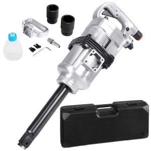 "Goplus 1"" Air Impact Wrench Gun Heavy Duty Pneumatic Tool Long Shank Commercial Truck Mechanics w:Case"