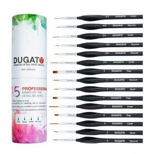 DUGATO Detail 15pcs Paint Brush Set