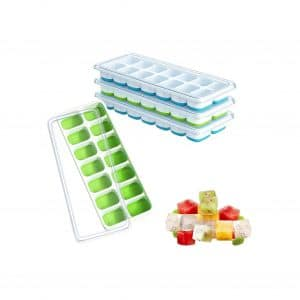 Ouddy 4-Pack Ice Cube Trays with Lid