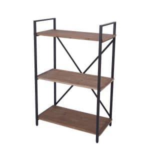 RiteSune 3 Tier Bookshelf Industrial Style Open Bookcase