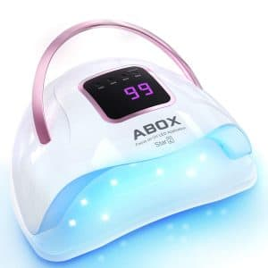 UV LED Nail Lamp, ABOX Star2 Nail Dryer 72W for All Gel Nail Polish, Fastest Drying Nail Light with 36PCS LED, 4 Timer Setting, LCD Display, Auto Sensor Gel Lamp for Home and Salon