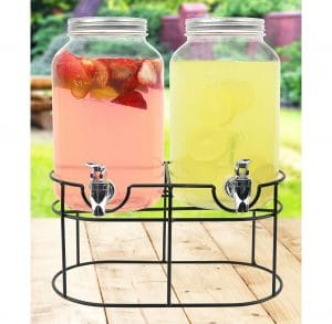 Estilo Glass Mason Jar with Leak-free Spigot