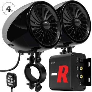 GoHawk TJ4-R Bluetooth Waterproof 4 inches Motorcycle Stereo Speakers