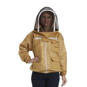 Beekeeping Ventilated Jacket Protection Beekeeper with Fency veil 1 x Free Glove