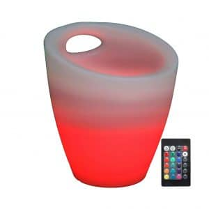 Sunnydaze Color-Changing Indoor or Outdoor LED Ice Bucket