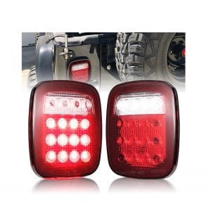 FieryRed Jeep Style Tail Lights