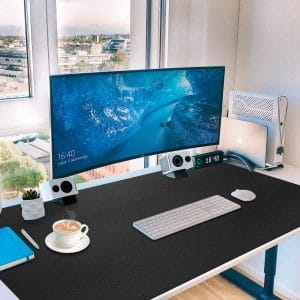 Toneseas 36 x 20 Inches Leather Desk Pad