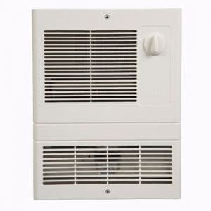 Broan Wall Heater, White Grille Heater with Built-In Adjustable Thermostat, 1500W, 120:240V