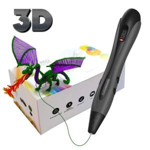 HD JUNTUNKOR 3D Printing Pen, 3D Pen with OLED Display, Non-Clogging, USB Charging, Temperature Control 3D Drawing Pens for Kids and Adults Arts Crafts Model DIY