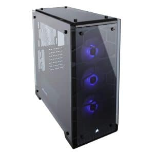 CORSAIR CRYSTAL 570X 3 RGB Fans Mid-Tower Case, Black
