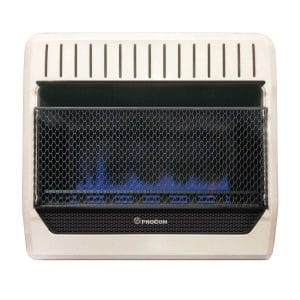 PROCOM HEATING MGT30BF 30,000 BTU Dual Fuel Blue Flame Gas Wall Heater