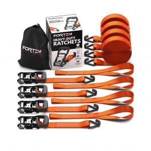 FORTEM Heavy-Duty Ratchet Tie-Down Straps