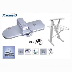 """RiCOMA Family Press Ironing Steam Press Area 32x10 for Dry or Steam Iron Pressing,1600 Watts, Includes 36"""" Metal Stand. Ultra XL Ironing Surface"""