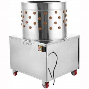 Richo 2HP 110V Stainless Steel Chicken Plucker 20 inch Barrel Diameter Large Professional Poultry Plucker 1500W Feather Removal