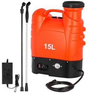 Happybuy, 12 Volt Battery, Operated 4-Gallon Electric Backpack Sprayer