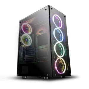 darkFlash ATX Mid-Tower Phantom Black Computer Gaming Case