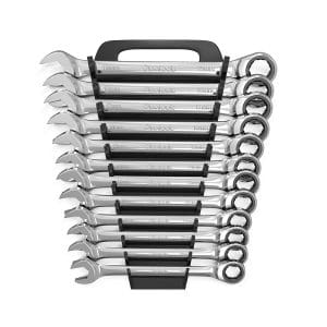 Olsa Tools 12 Pcs Metric Ratcheting Wrench Set