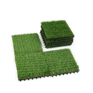 ZTOUTDOOR Artificial Grass Mat for Patio 1 x 1ft