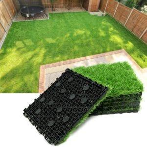 Progoal Artificial Grass Turf Tile Grass 12 x 12 Inches