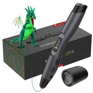 TECBOSS 3D Pen, SL300 Intelligent 3D Printing Pen with LED Display,USB Charging, 8 Speed Printing&Temperature Control, Simple Handled 3D Printer Pen for Your Kids Toys,