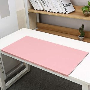 BUBM Non-Slip Soft Leather Surface Office Desk Pad