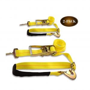 DC Cargo Mall 2 Ratchet Axle Strap Tie Downs