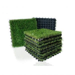 XLX TURF Artificial Grass Tiles 12 x 12 Inches 9 Pack