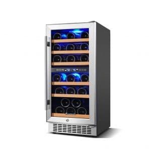 AAOBOSI 30 Bottles Wine Cooler Dual Zone
