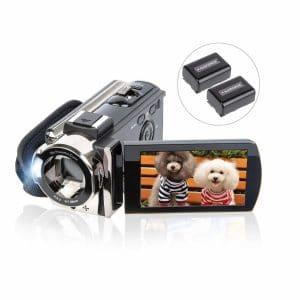 Kicteck Video Camera Digital 1080P HD