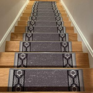 Elders and Pets Non-Slip Stair Mats Rug Tread Brown Indoor Outdoor Stairway Carpet Pads Safety for Kids 8 x 30 Pre Applied Adhesive Set of 15 Carpet Stair Treads