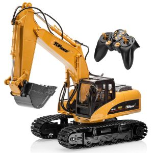 Top Race Remote Control Excavator Tractor with 2.4 GHz Transmitter