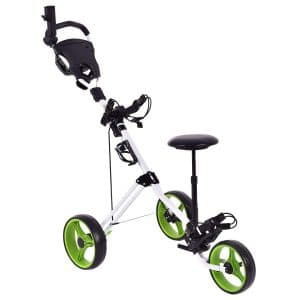 GYMAX Lightweight Foldable Golf Push Carts