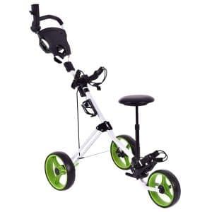 GYMAX Lightweight Foldable Golf Push Carts