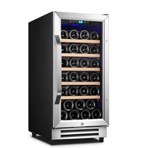 Karcassin 15 Inches Compressor Wine Cooler 32 Bottles