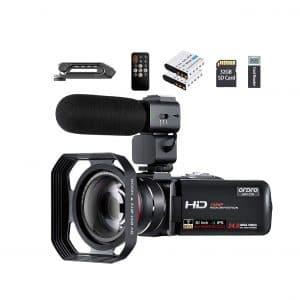 ORDRO Video Camera 1080P Camcorder Vlogging Camera