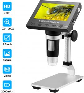 Newesoutorry Stereo Microscope NA USB White LED Light Lighting Bottom Biological Microscope Lamp Source Adjustable