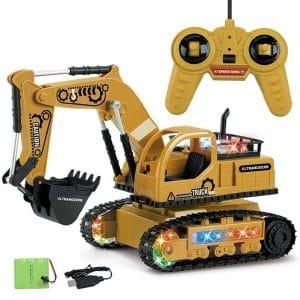 miniflower RC Excavator 2.4G Full Function Digger for Kids Between 3-8 Years