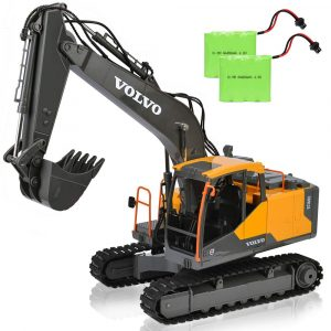 DOUBLE E 17 Channel RC Excavator with Two Rechargeable Batteries