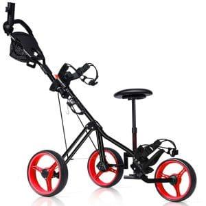 Tangkula Swivel Foldable Golf PushCart