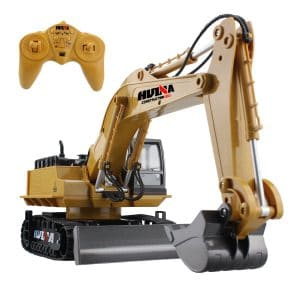 fisca RC Excavator 11 Channel Digger Toy with Sound & Flashing Lights