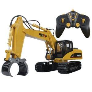 Big-Daddy Powerful 15 Channel Remote Control Excavator w/Lights & Sound