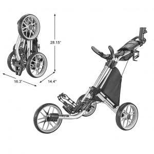 CaddyTek Caddylite EZV8-EZ-Fold Golf Push Cart