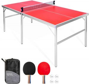 GoSports Space Saving Design Table Tennis Table