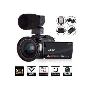 KOT 4K Camcorder Video Camera 48MP with Microphone