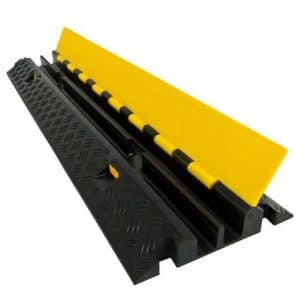 Electriduct Extreme Rubber Cable Protector - Black Base with a Yellow Lid