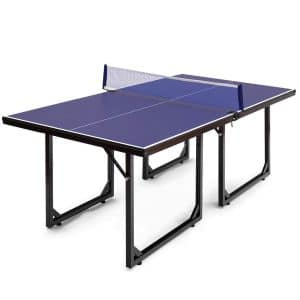 Goplus Foldable 99% Preassembled Compact Ping Pong Table