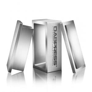 Dabpress 2x4 Inch Food Grade Anodized Aluminum Pre Press Mold