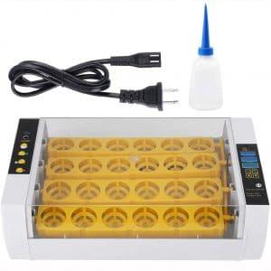 Egg Incubator,24 Eggs Incubator Auto Temperature Control Digital Automatic Chicken Chick Duck Hatcher