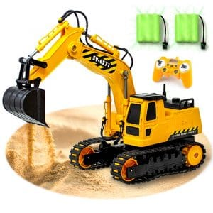 GILI RC Excavator, Perfect Gifts for Kids between the age of 3 and 10 Years - Rechargeable