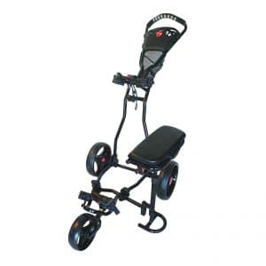 Spider Black Golf push Cart with Seat